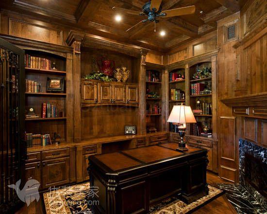 欧式书房设计特点