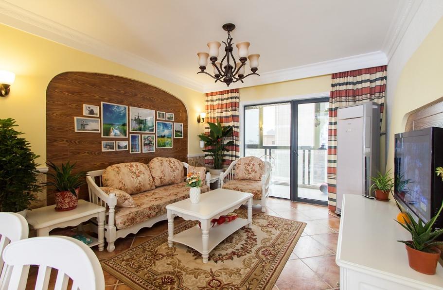 温馨地中海风格三居室设计效果图片